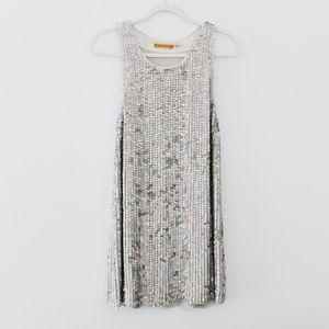 Alice + Olivia Silk Sequin Dress